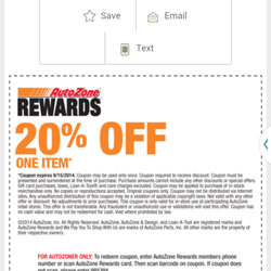 Autozone Coupons In Store Printable 2019