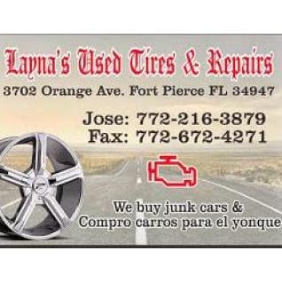 Layna S Used Tires And Repair 3702 Orange Ave Fort Pierce Fl Auto Mapquest