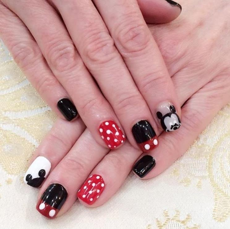 Es Nail Salon Los Angeles: Mickey Mouse Nails By Ting.