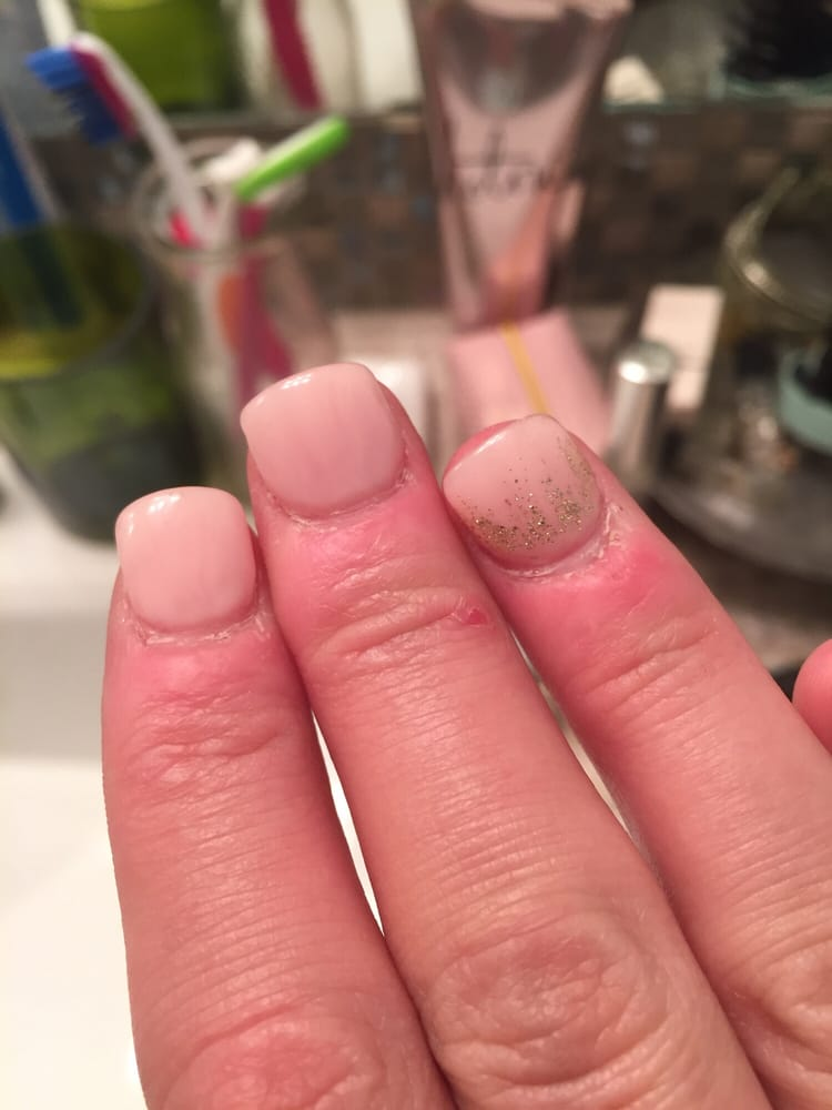 Destroyed cuticles from the terrible service I got here. - Yelp