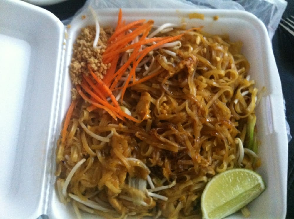 Chicken pad thai take out so good and a huge portion yelp for Authentic thai cuisine