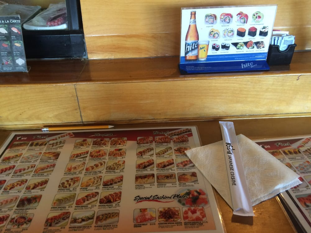 Many sushi to choose from yelp - Yoshi japanese cuisine ...
