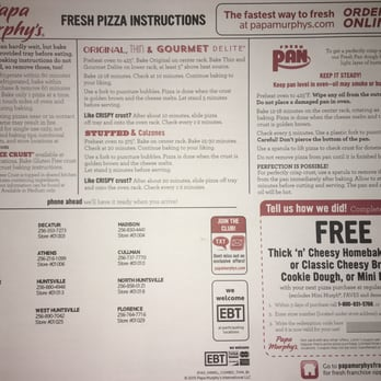 Papa Murphys Pizza Highway N Hazel Green AL - Papa murphy's us map