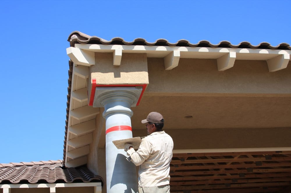 Architectural foam columns installed by lemon grove stucco for Stucco columns