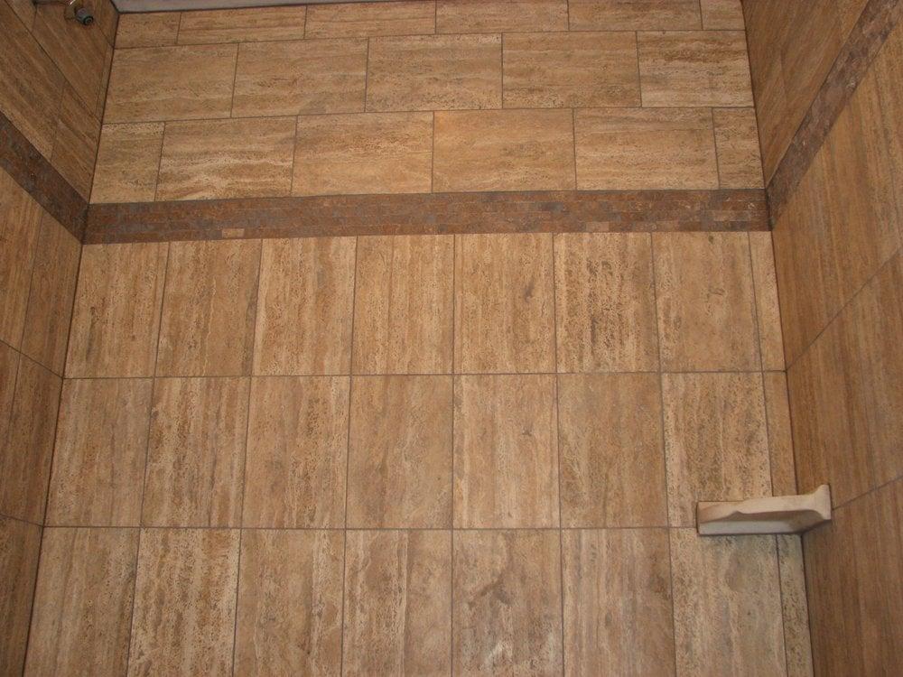 Travertine Tile Stall Shower Voorhees Nj Yelp