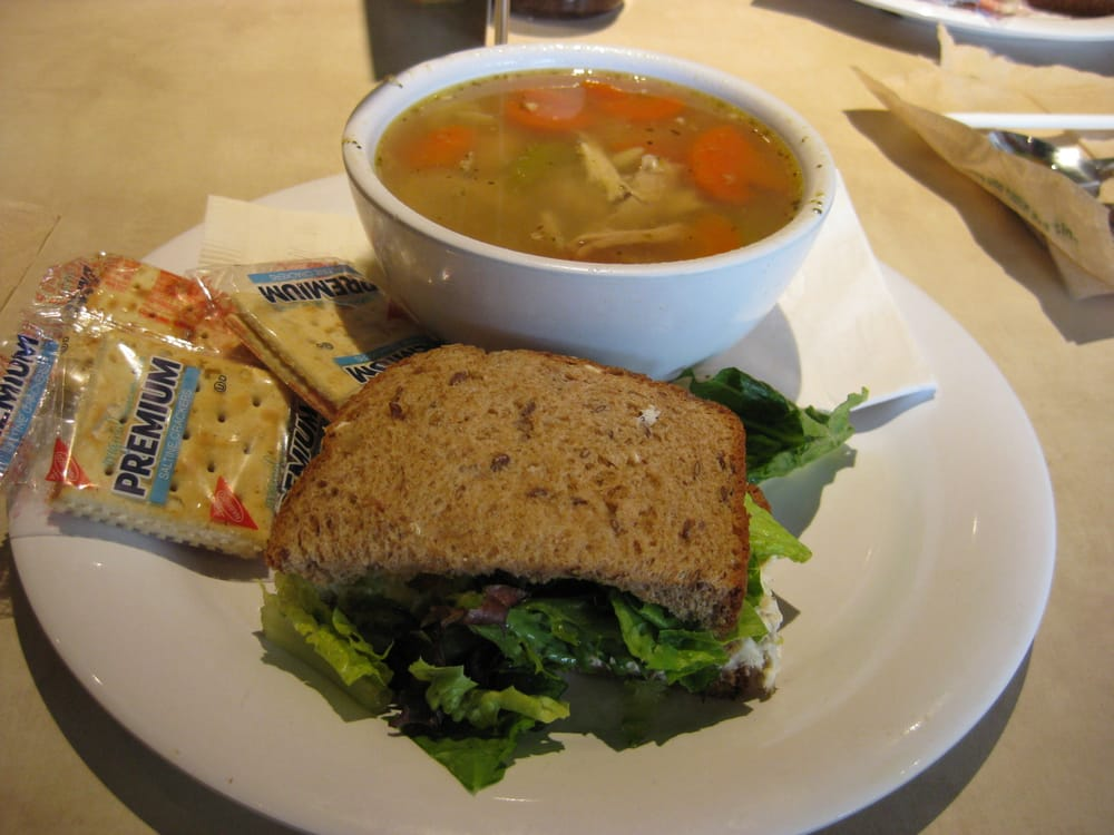 Bowl Of Chicken Amp Orzo Soup Plus 1 2 Chicken Salad
