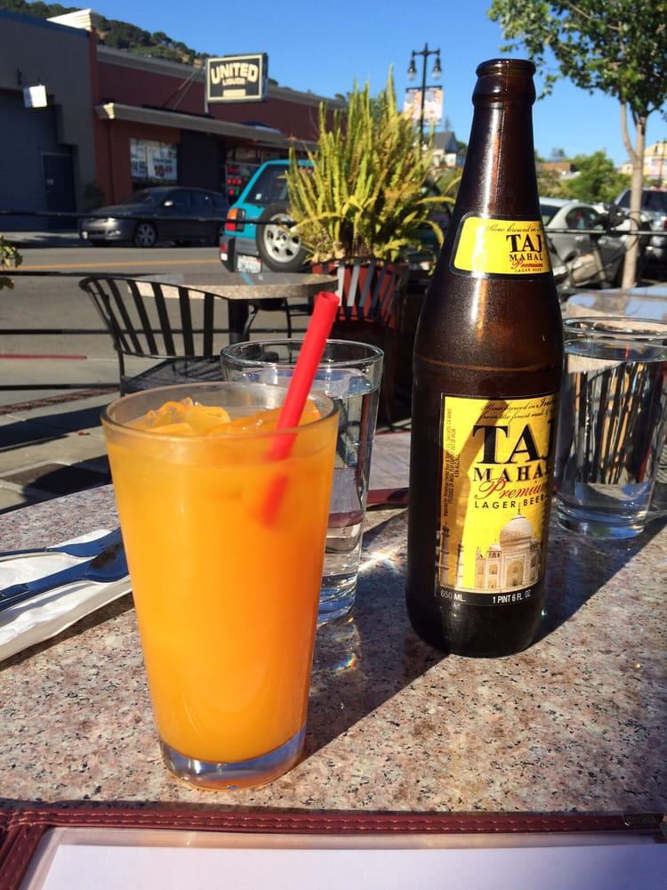 Indian fruit drink mango Mazda and Taj beer! Yummy! - Yelp