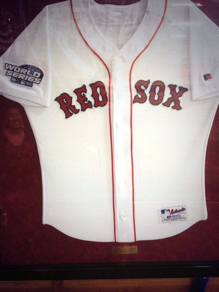 Dave Roberts  Boston Red Sox 2004 World Series Jersey! The owner ... dd8dd33f0b0