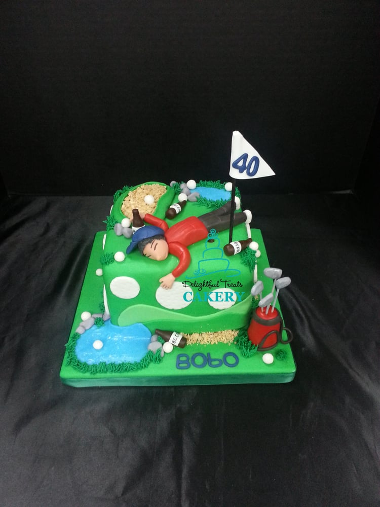 Funny golf themed birthday cake Yelp