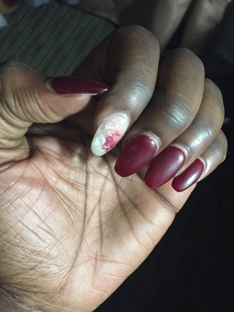 Acrylic nail fell off.. Imagine if I\'d actually gone back.. It might ...