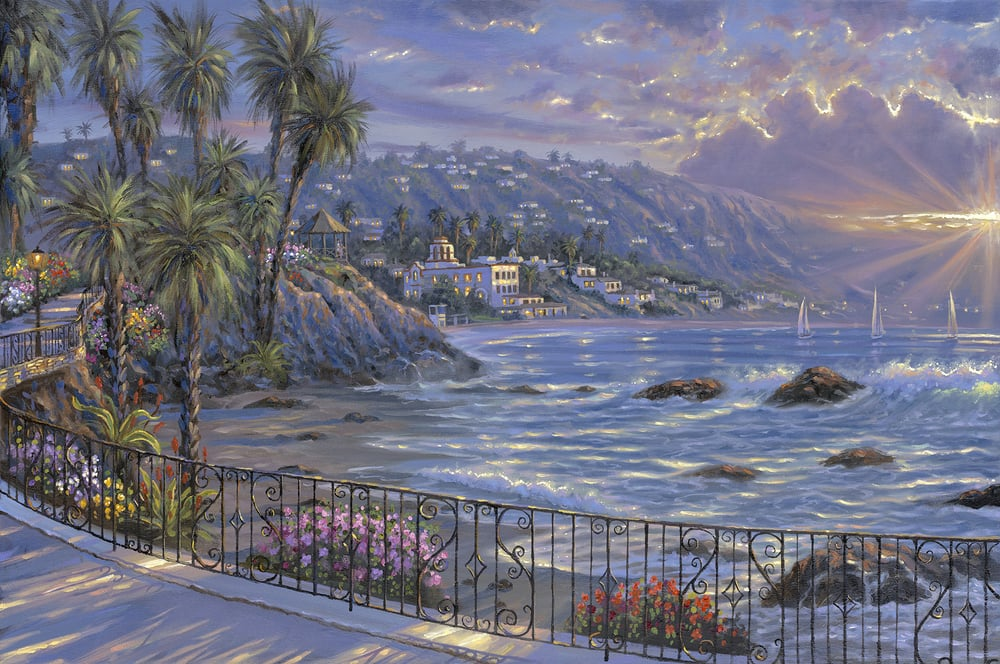 Laguna Beach Sunrise By Robert Finale Exclusively At