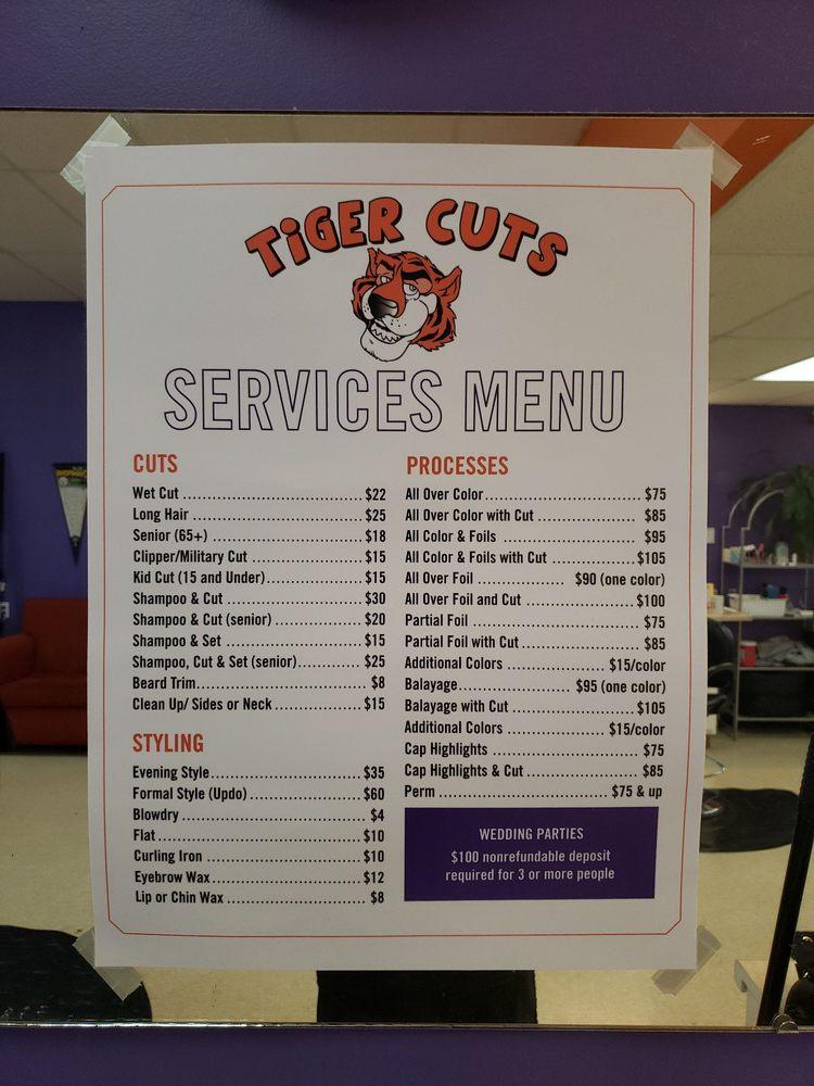 Tiger Cuts: 1376 Tiger Blvd, Clemson, SC