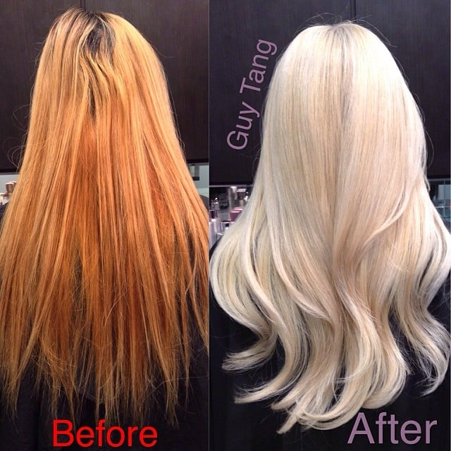 From Orange Brassy Hair to Pearly White Blonde - Yelp
