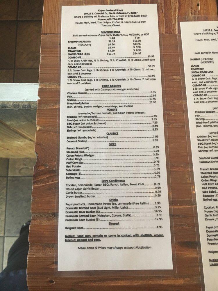 Pier 407 Cajun Crab & Seafood: 10725 E Colonial Dr, Orlando, FL