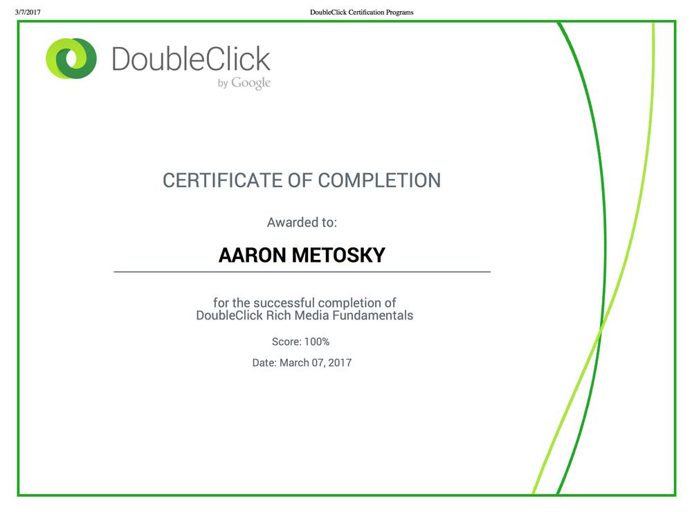 DoubleClick Studios Certification \'Rich Media Fundamentals\' Aaron ...