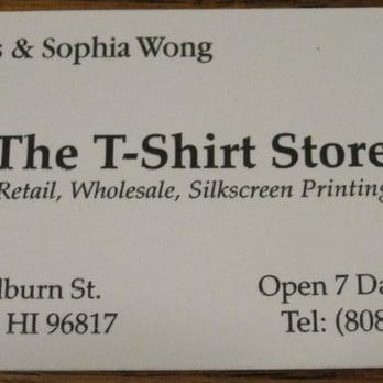 The t shirt store mens clothing 1409 colburn st kalihi photo of the t shirt store honolulu hi united states the colourmoves