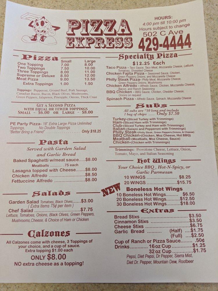 Pizza Express/Hog Wild BBQ: 502 C Ave, Cache, OK