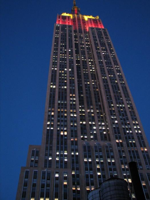 This is a view of the Empire State Building from the ...