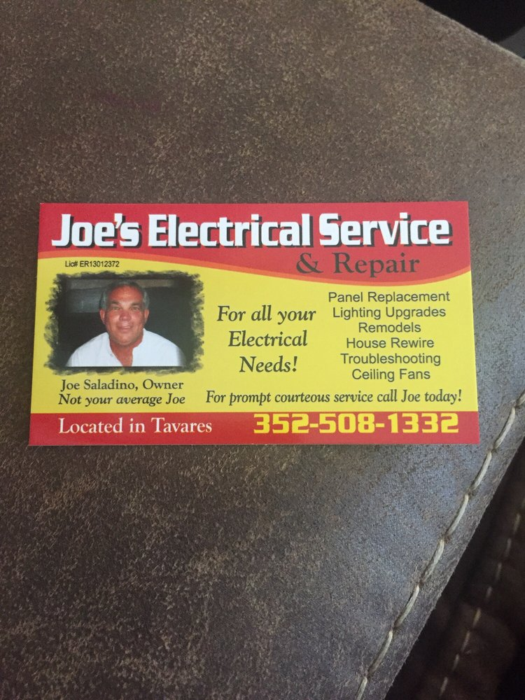 Joe's Electrical Service & Repair: 16142 Eagle Watch Dr, Tavares, FL