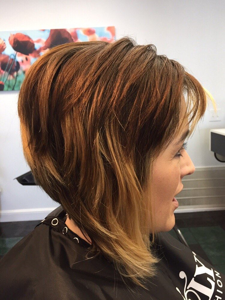 Chocolate Brown Colorly Hair Color With Easily Blonde Highlights Yelp