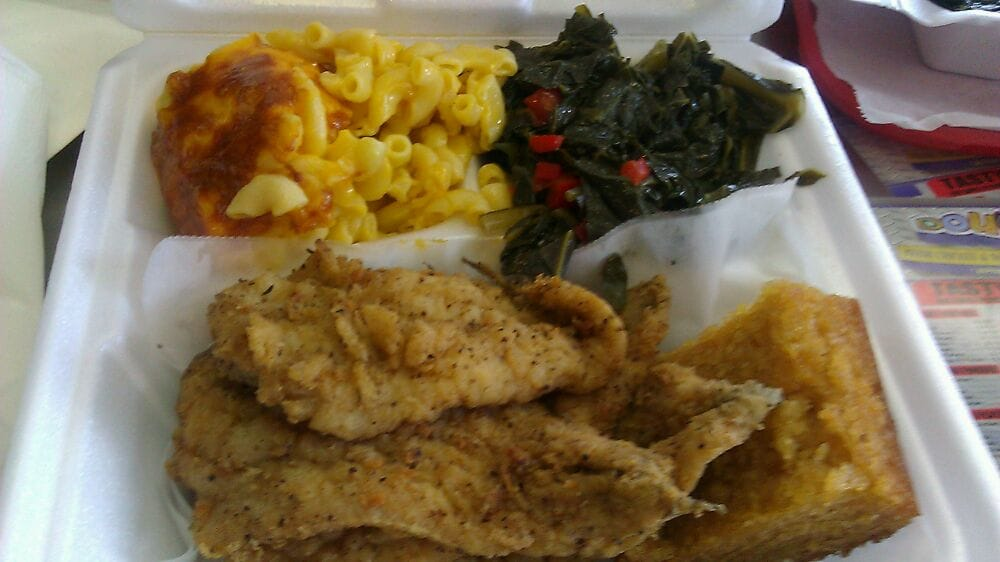 Fried fish mac and cheese collard greens and cornbread for Doug s fish fry