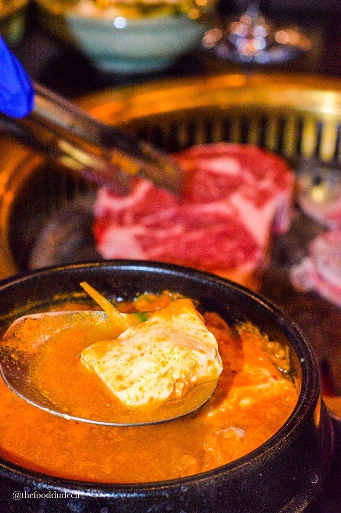 Food from MOA Korean BBQ & Bar