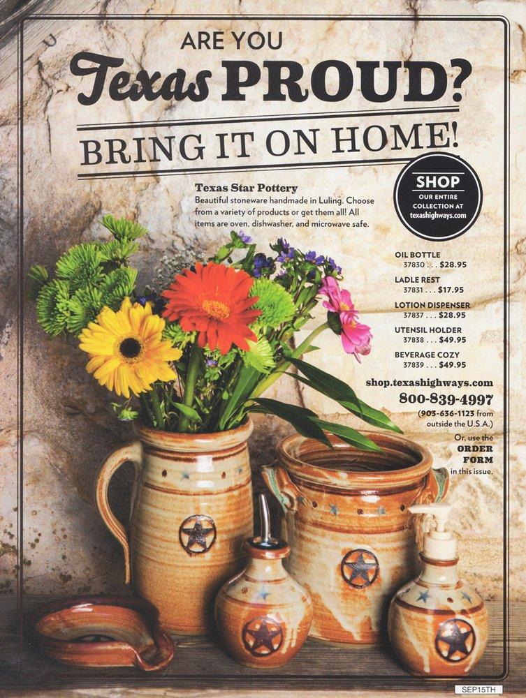 Luling Icehouse Pottery: 1115 E Davis St, Luling, TX