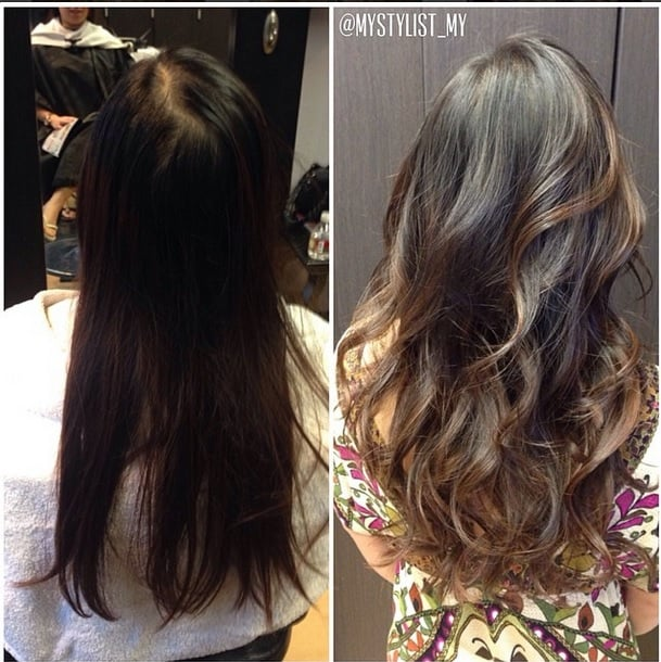 Natural balayage highlights on my brown hair with complimenting photo of my stylist salon san jose ca united states natural balayage pmusecretfo Image collections
