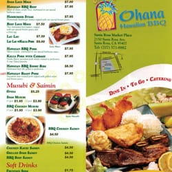 Photo Of Ohana Hawaiian Bbq Santa Rosa Ca United States Menu2