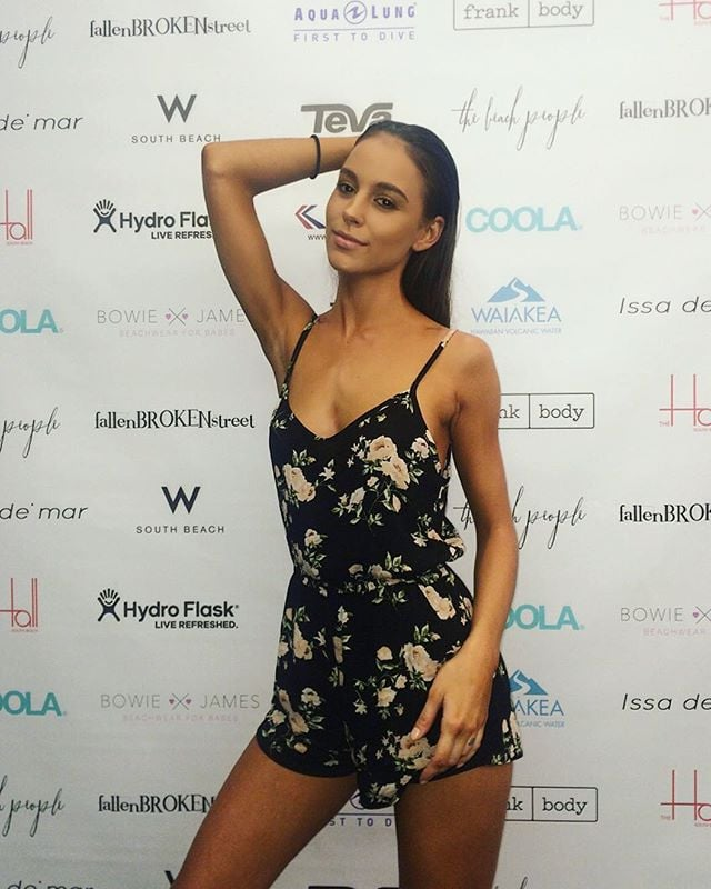 Shannon Looking Red Carpet Ready At Swim Week Miami With