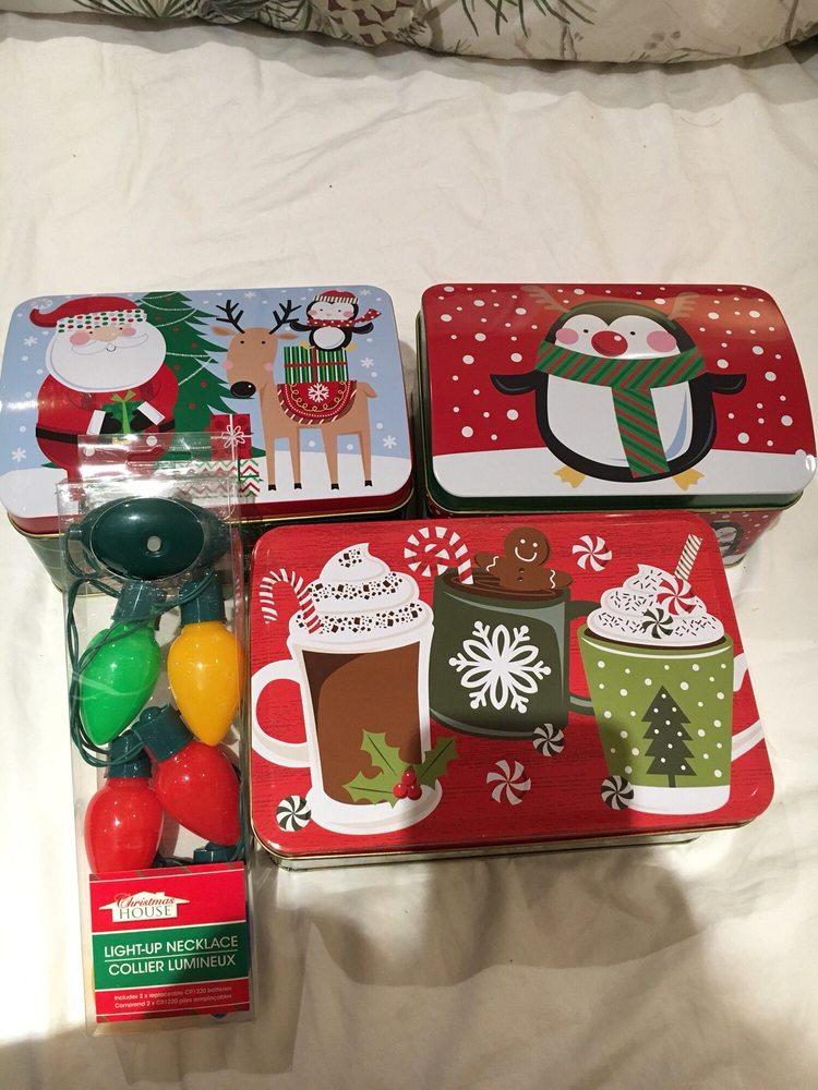 Photo of Dollar Tree - La Puente, CA, United States. Christmas gift boxes - Christmas Gift Boxes And Christmas Lights' Light Up Necklace! - Yelp