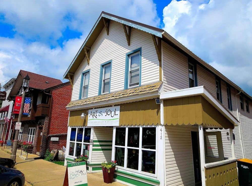 Art & Soul Tattoo and Gallery: 412 2nd St, New Glarus, WI