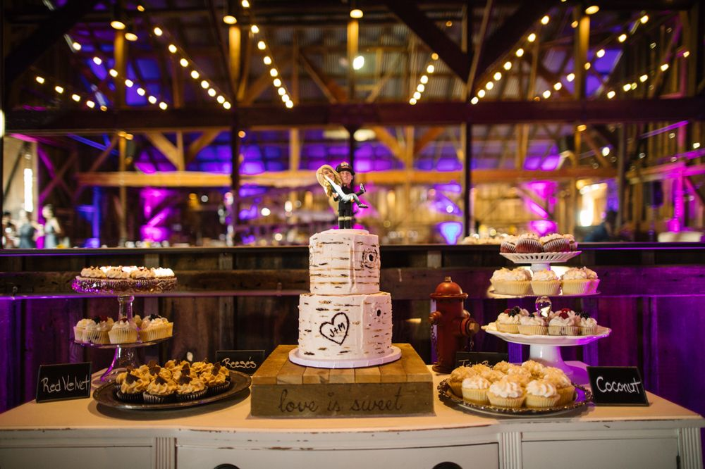 Buttercream Birch Tree Wedding Cake Patrick Ang Photography Yelp