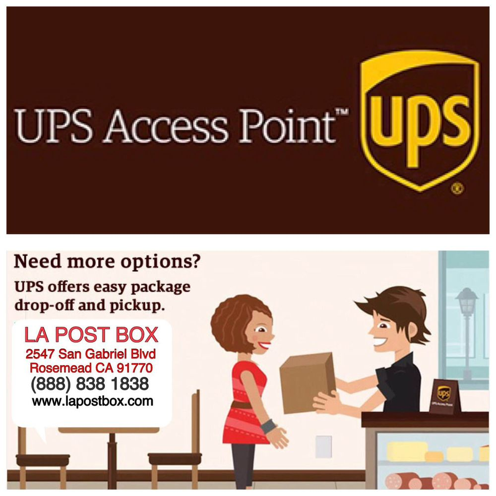 ups access point offers easy packages drop-off and pickup at l.a.