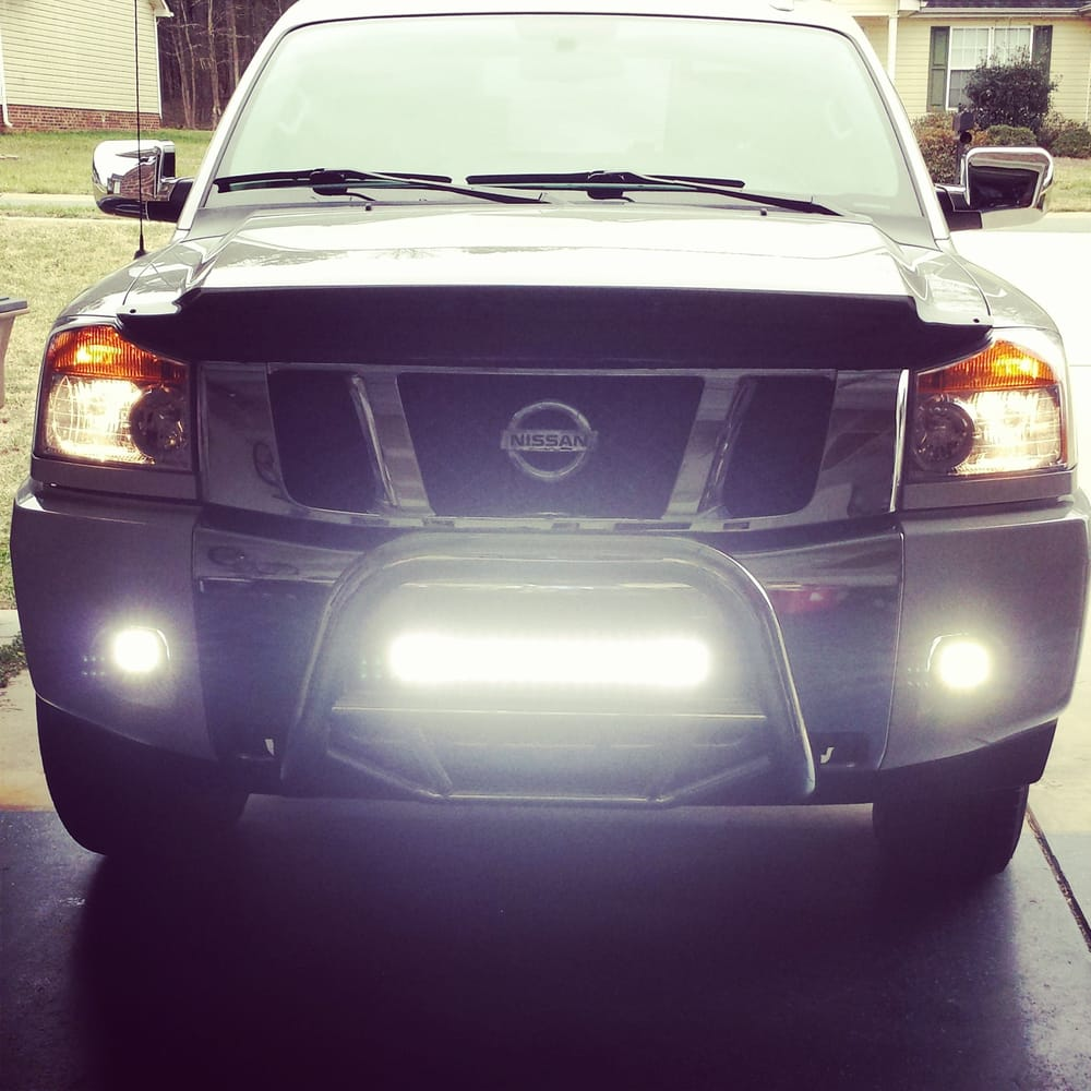 Rl customs installed this led light bar to my 2014 nissan titan 219 photos for rl customs mozeypictures Image collections