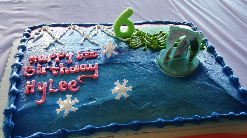 Frozen themed birthday cake Yelp