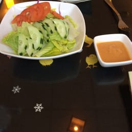 New City Sushi - New City, NY, United States. Green Salad w/ginger dressing on the side
