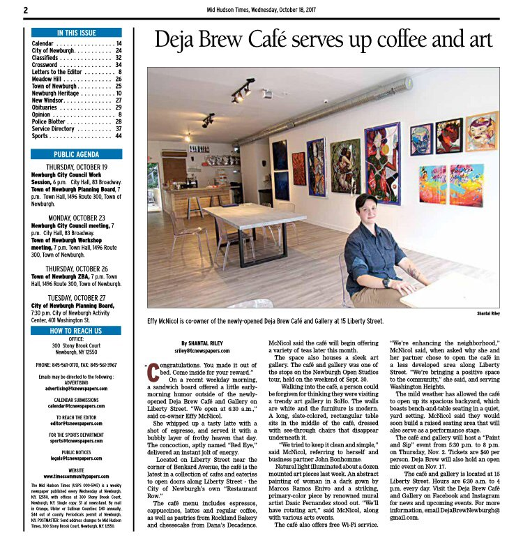Photos for Déjà Brew Cafe & Art Gallery - Yelp