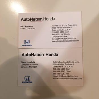 Autonation honda costa mesa 40 photos auto repair for Honda financial account management