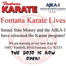 Stan Money S Fontana Karate 16857 E Foothill Blvd Ca Phone Number Yelp