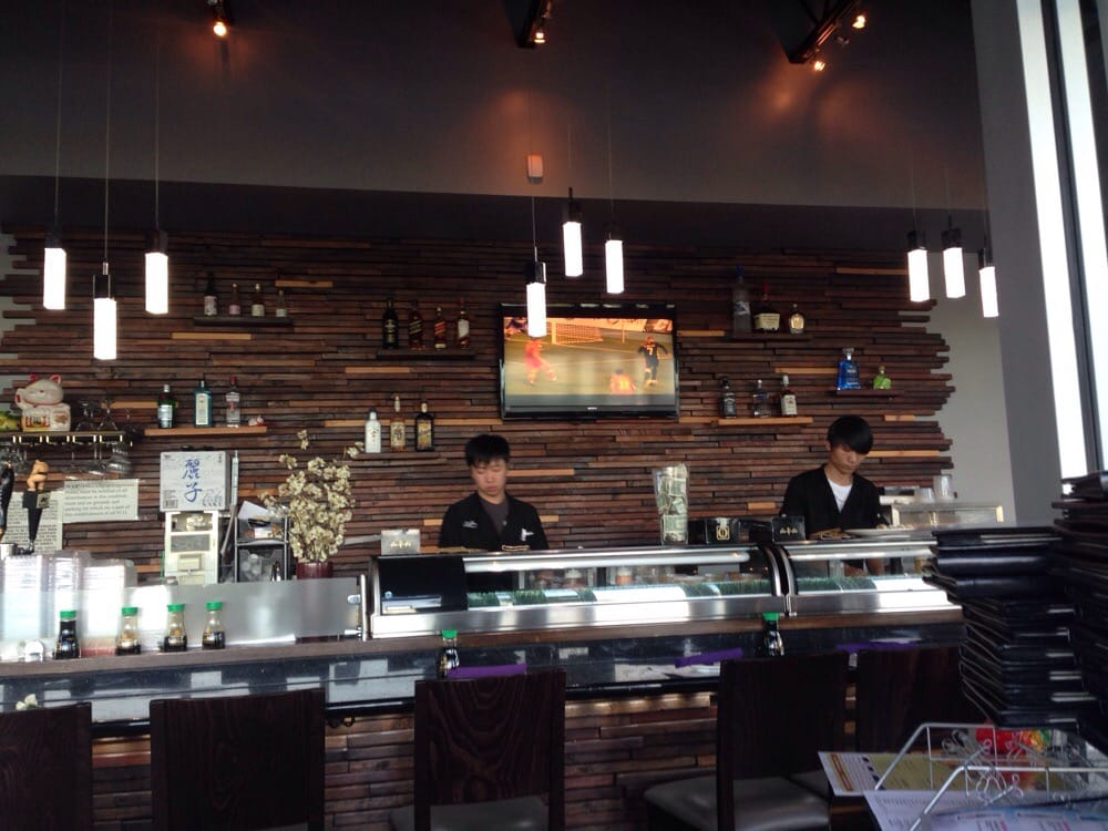Sushi Bar Design modern sushi bar, great design! - yelp