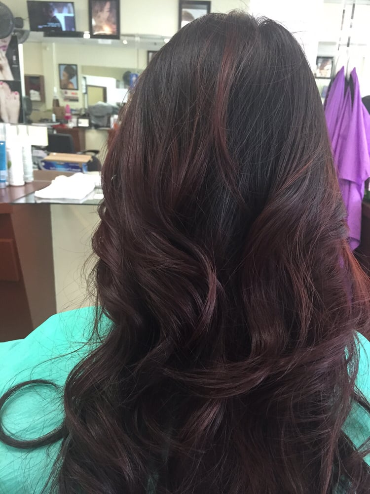 Burgundy Ombre From Natural Black Hair Love It Yelp