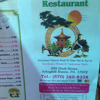 Chinese Food Schuylkill Haven Pa