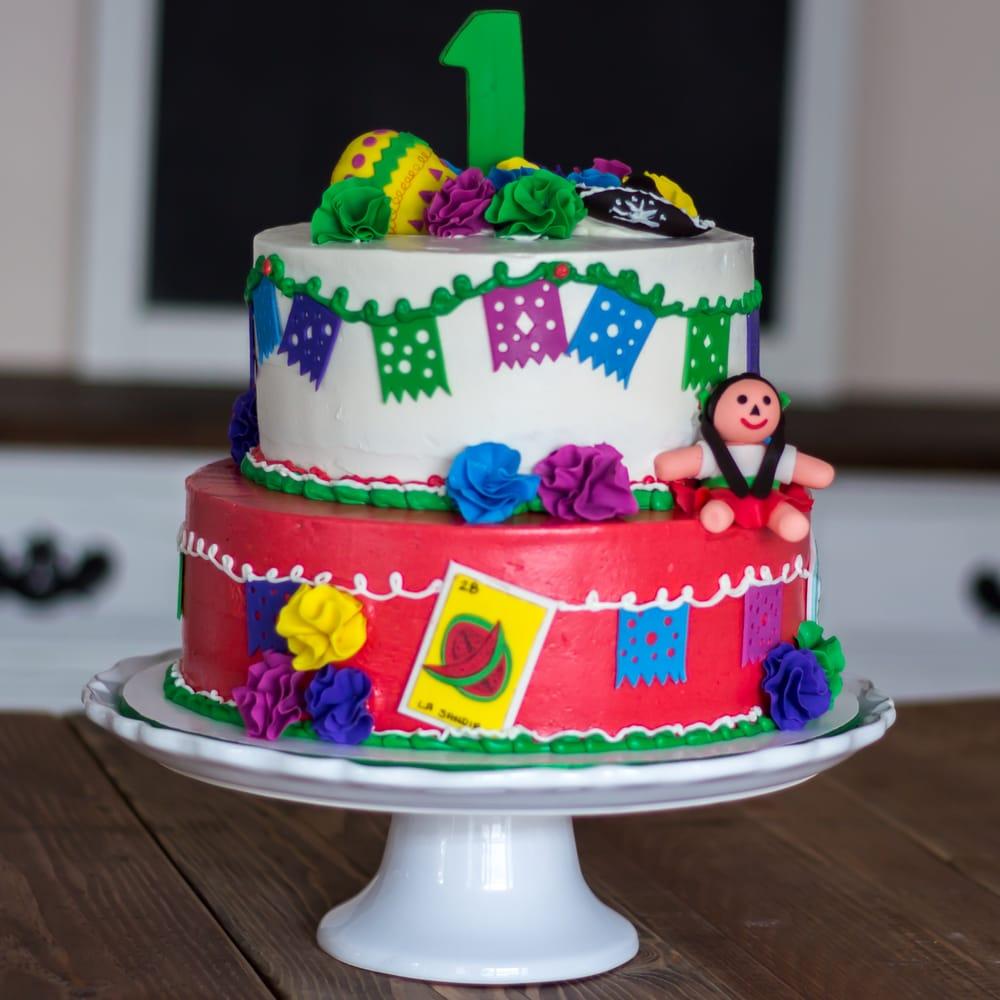 1st Birthday Fiesta Cake