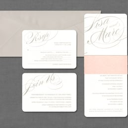 Pinkpolka invitations stationery get quote cards stationery photo of pinkpolka invitations stationery edmonton ab canada contemporary grey and solutioingenieria