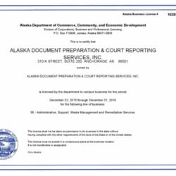 Alaska Business Licenses Search Directory
