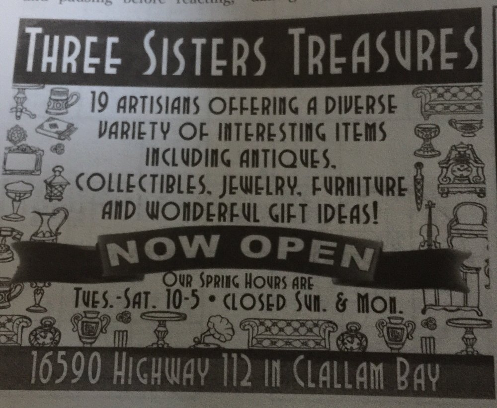 Three Sisters Treasures: 16590 Hwy 112, Clallam Bay, WA