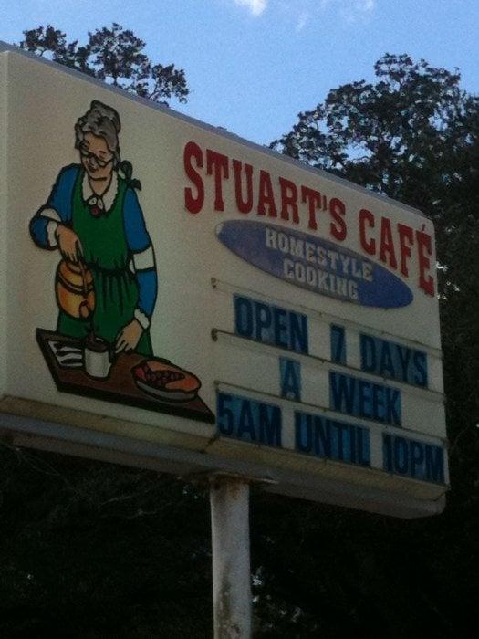 Stuart's Cafe: 30222 Highway 21, Angie, LA