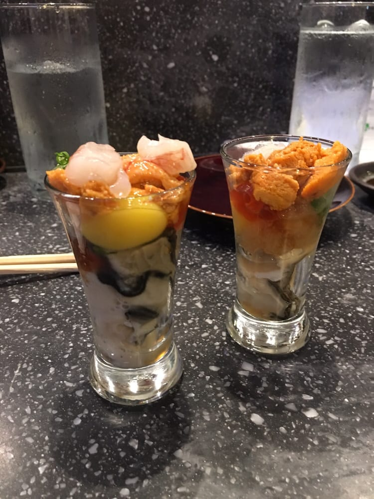 Oyster Shooter Oyster shooter with un...