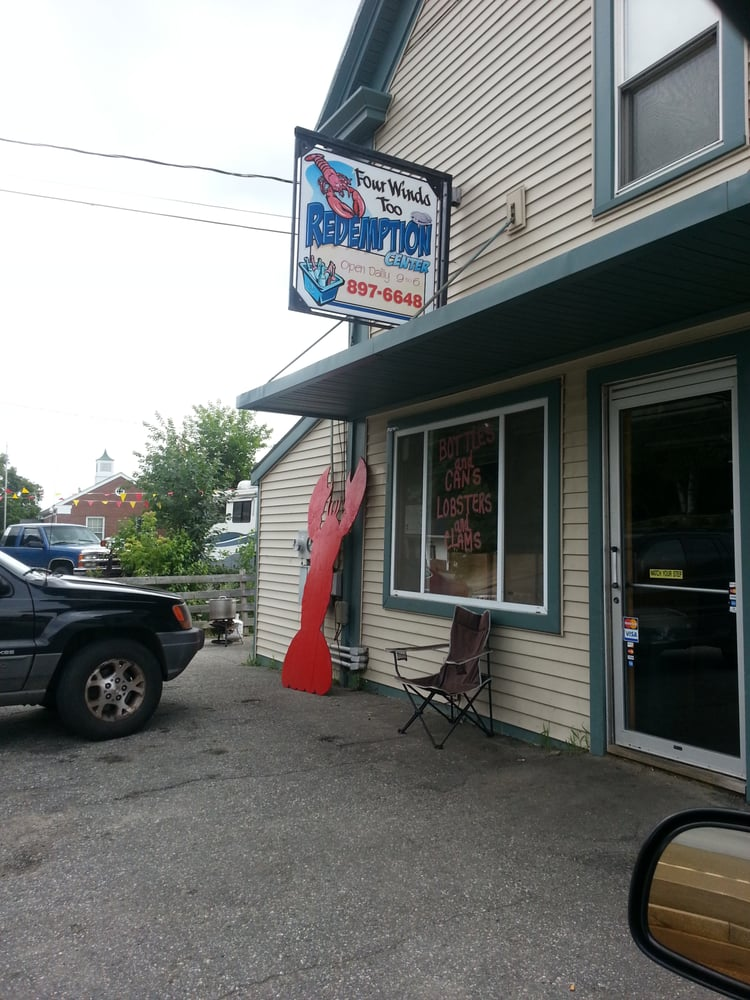 Four Winds Too Redemption Center Lobster & Clams: 68 Main St, Livermore Falls, ME